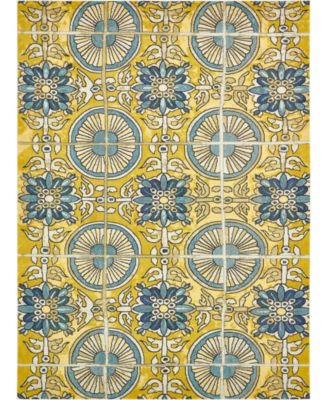 "Newwolf New5 Gold 10' 6"" x 16' 5"" Area Rug"