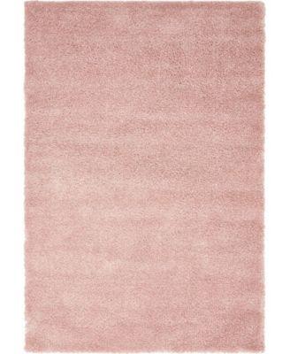 """Uno Uno1 Pink 5' x 7' 7"""" Area Rug"""