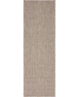Pashio Pas6 Beige 2' x 6' Runner Area Rug