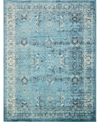 """Linport Lin1 Turquoise/Ivory 13' x 19' 8"""" Area Rug"""