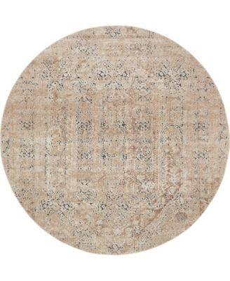 Odette Ode1 Beige 8' x 8' Round Area Rug