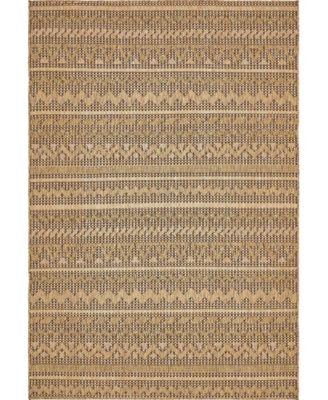 Pashio Pas6 Light Brown 6' x 9' Area Rug