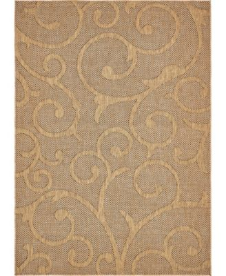 Pashio Pas7 Light Brown 7' x 10' Area Rug