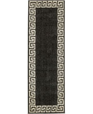 Anzu Anz2 Charcoal 2' x 6' Runner Area Rug