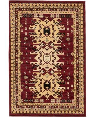 Charvi Chr1 Red 8' x 8' Square Area Rug