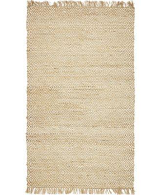 Braided Tones Brt3 Natural/White 5' x 8' Area Rug
