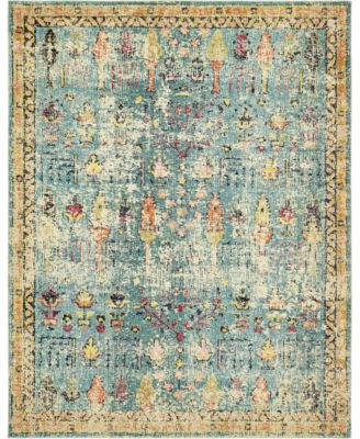 Newhedge Nhg6 Blue 8' x 10' Area Rug