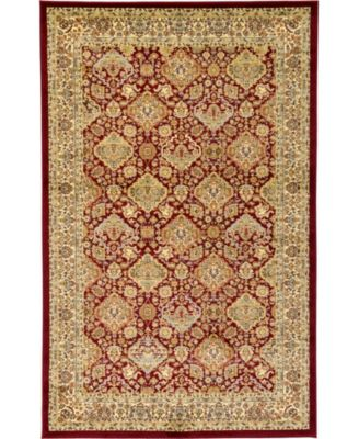 Passage Psg7 Red 5' x 8' Area Rug