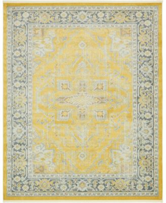 "Kenna Ken1 Yellow 8' 4"" x 10' Area Rug"