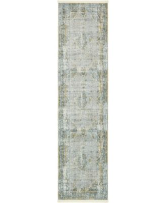 "Kenna Ken1 Gray 2' 7"" x 10' Runner Area Rug"