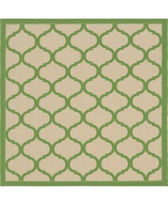 Pashio Pas5 Green 6' x 6' Square Area Rug