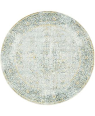 "Kenna Ken1 Gray 5' 5"" x 5' 5"" Round Area Rug"