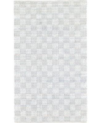 Jari Checkered Jar2 Ivory 5' x 8' Area Rug