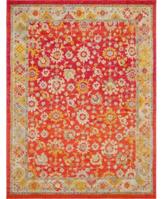 Lorem Lor3 Red 9' x 12' Area Rug