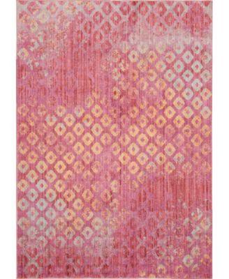 Prizem Shag Prz2 Pink 7' x 10' Area Rug