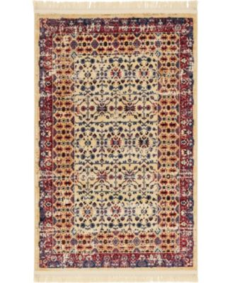 "Borough Bor2 Beige 3' 3"" x 5' 3"" Area Rug"