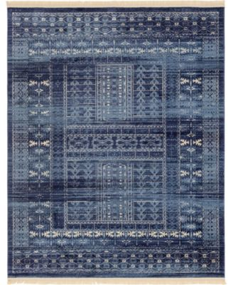 Borough Bor4 Blue 8' x 10' Area Rug