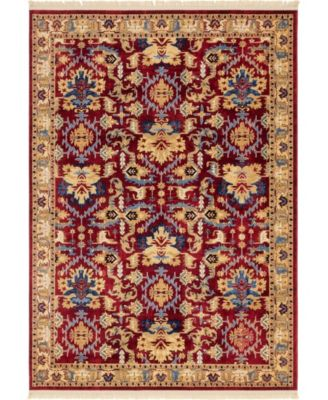 Borough Bor1 Red 7' x 10' Area Rug