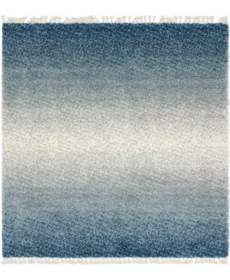 Lochcort Shag Loc5 Blue 8' x 8' Square Area Rug