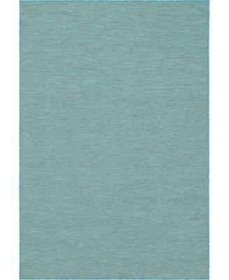 """Pashio Pas8 Turquoise 6' 3"""" x 9' Area Rug"""