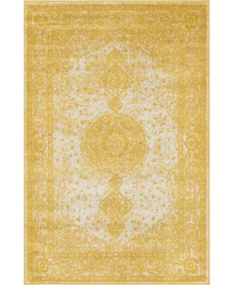 Mobley Mob1 Yellow 4' x 6' Area Rug
