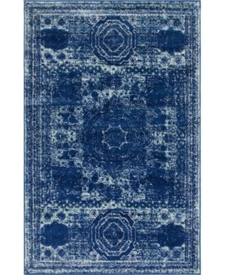 Mobley Mob2 Navy Blue 4' x 6' Area Rug