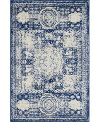 Mobley Mob2 Blue 4' x 6' Area Rug