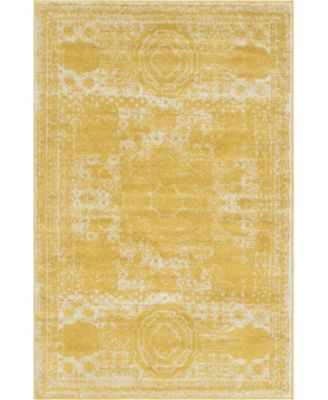 Mobley Mob2 Yellow 4' x 6' Area Rug