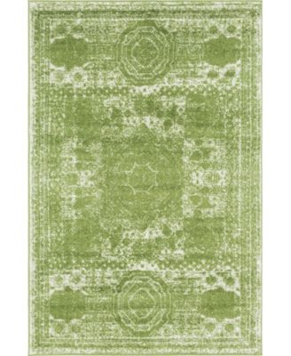 Mobley Mob2 Green 4' x 6' Area Rug