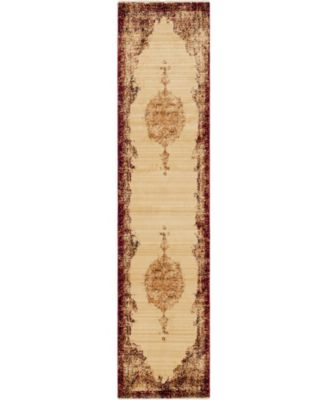 """Thule Thu2 Red 2' 2"""" x 9' 10"""" Runner Area Rug"""