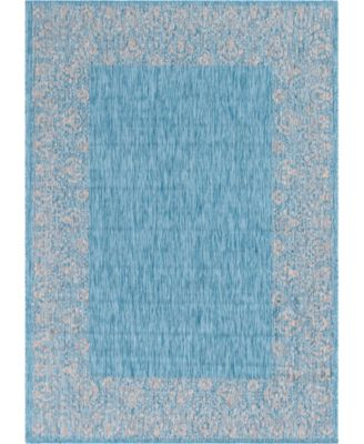 "Pashio Pas7 Light Aqua 8' x 11' 4"" Area Rug"