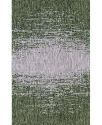 Pashio Pas7 Green 5' x 8' Area Rug