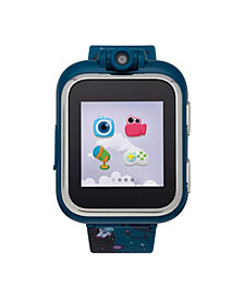 PlayZoom Kids Smartwatch with Navy Outer Space Printed Strap