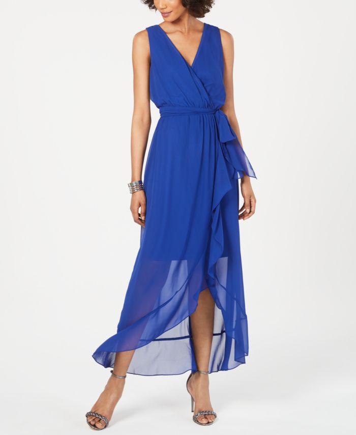 SL Fashions Surplice High-Low Maxi Dress & Reviews - Dresses - Women - Macy's