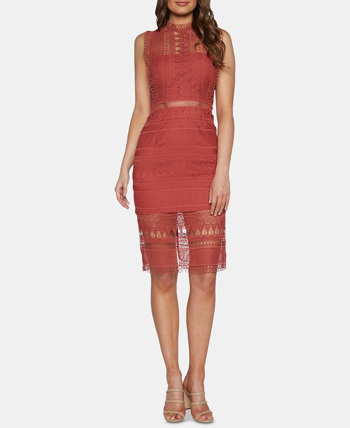 Bardot - Mock-Neck Lace Dress