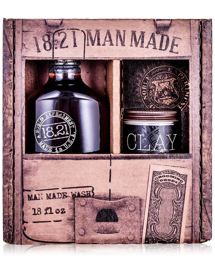18.21 Man Made - 2-Pc. Wash & Clay Gift Set