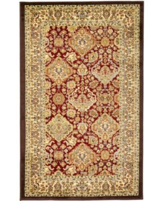 """Passage Psg7 Red 3' 3"""" x 5' 3"""" Area Rug"""