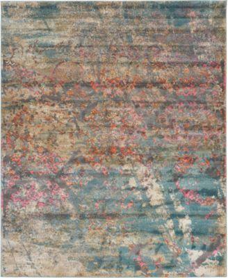 Aroa Aro2 Teal 8' x 10' Area Rug