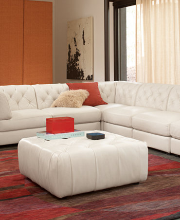 Rosario Leather Modular Living Room Furniture Collection With Sets Piec