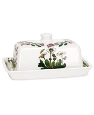 Portmeirion Dinnerware, Botanic Garden Covered Butter Dish with Knob Top