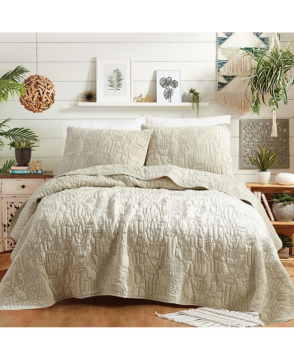 Makers Collective Justina Blakeney By Hamsa  King Quilt Set