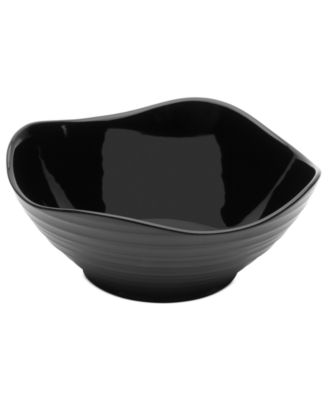 Mikasa Dinnerware, Swirl Square Black Soup Bowl