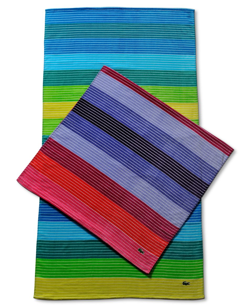 Beach Blanket Logo: Lacoste Towels, Croc Logo Beach Towel Bath Towels Bed