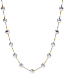 "EFFY® Gray Cultured Freshwater Pearl (5-1/2mm) 18"" Collar Necklace in 14k White Gold"