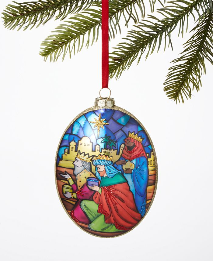 Holiday Lane - Joy To The World Three Kings Glitter Ornament