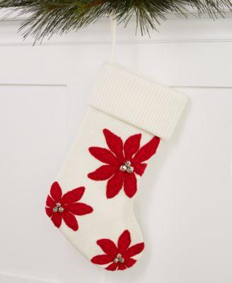 Poinsettia Stocking, Created for Macy's