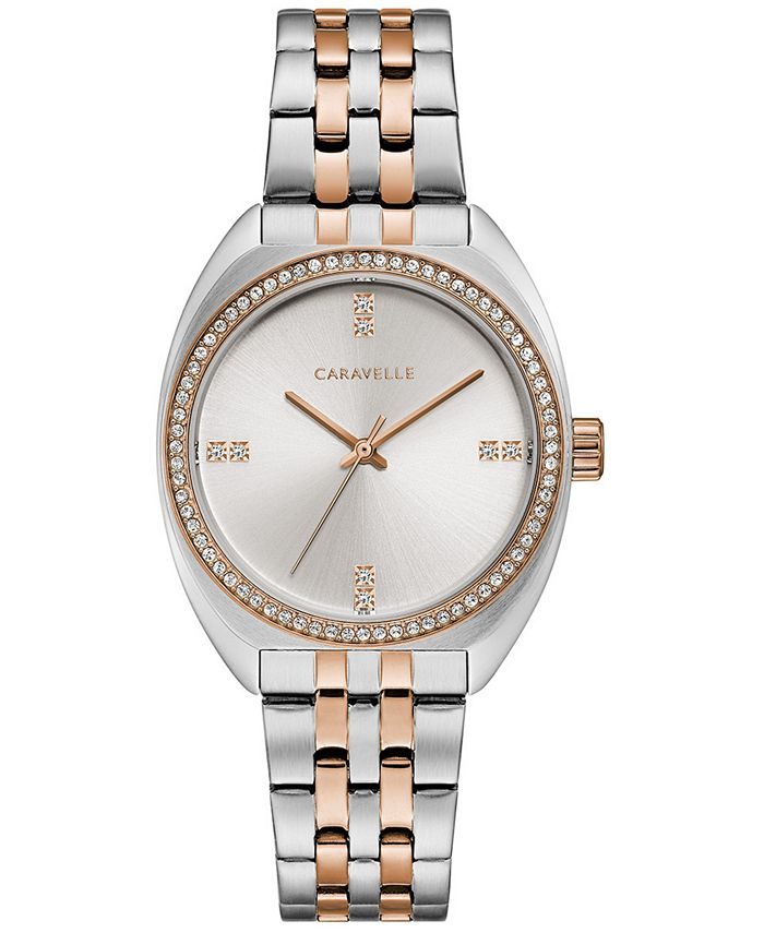 Caravelle - Women's Crystal Two-Tone Stainless Steel Bracelet Watch 32mm
