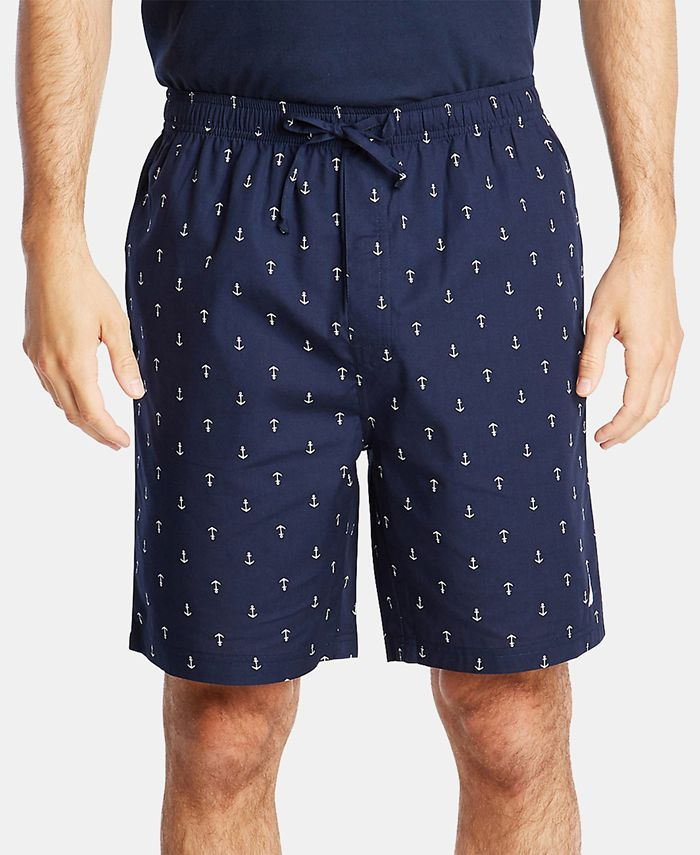 Nautica - Men's Cotton Anchor-Print Pajama Shorts