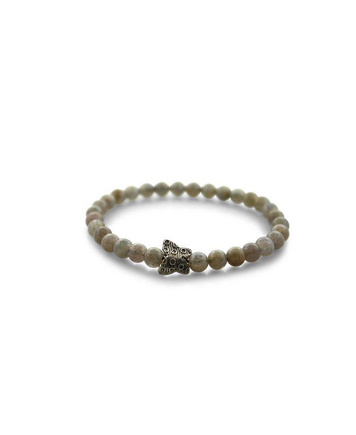 Macy's - Beaded Stretch Bracelet Moonstone
