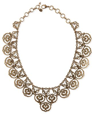 Lucky brand necklace gold tone openwork collar necklace for Macy s lucky brand jewelry